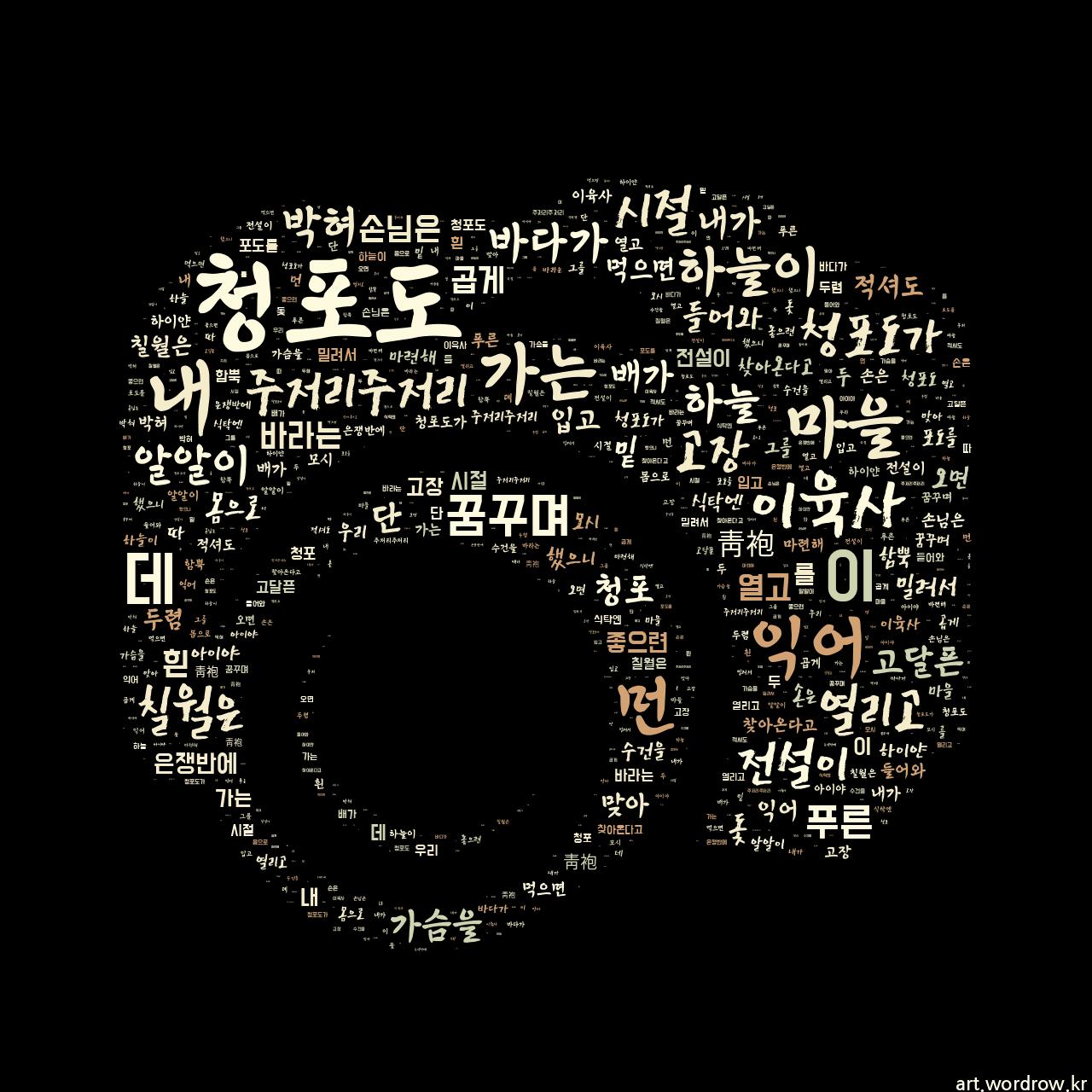 워드 아트: 청포도 [이육사]-79